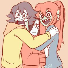 Underswap maybe?<<< I'ts human blooky, mettaton, and undyne. I think