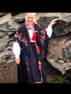 Kristiansand, Norway Clothes, Folk Costume, Costumes, My Heritage, Sari, Vest, Celebs, Saddles
