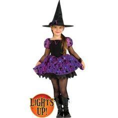 Girls Light-Up Moonlight Magic Witch Costume