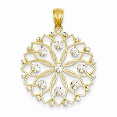 In the Lowcountry, we have all types of beautiful flowers. Camellias are found all around town and smell wonderful! We have a 14k gold Camellia Gate pendant that is white and yellow gold. 34mm X 25mm