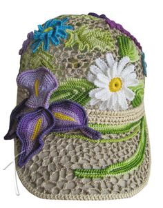Ok this is just outstanding... and it can double as a camoflage hunting cap for the outdoors woman... or man... uh... That iris is seriously beautiful.