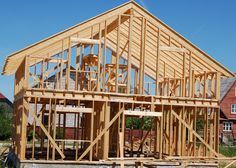 [ Wood Frame House Images Amp Pictures Becuo Construction Stock Photo Image ] - Best Free Home Design Idea & Inspiration Old Farm Houses, Big Houses, Wood Frame House, Framing Construction, Old Mansions, Unusual Homes, Timber Frame Homes, Small House Plans, Historic Homes