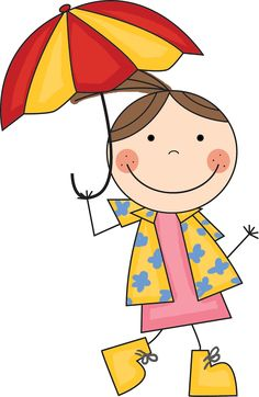 Little Girl With Umbrella Clipart Boy with umbrella clipart boy Art Drawings For Kids, Doodle Drawings, Drawing For Kids, Cartoon Drawings, Easy Drawings, Doodle Art, Art For Kids, Stick Figure Drawing, Stick Art