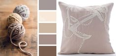 Mocha like colors for a more neutral colored living room.