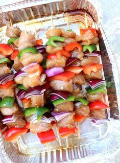 Marinerte grillspyd med kylling - LINDASTUHAUG