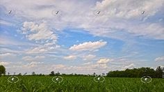 Textures Cloudy sky with rural background 20786   Textures - BACKGROUNDS & LANDSCAPES - SKY & CLOUDS   Sketchuptexture