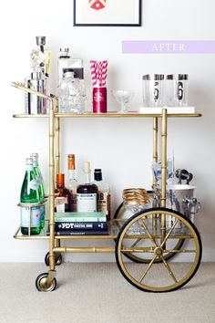 bicycle bar cart
