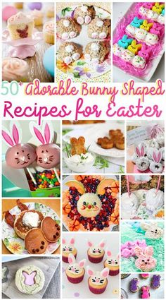 50 Adorable Bunny Shaped Recipes for Easter Easter Bunny Cupcakes, Easter Peeps, Easter Candy, Hoppy Easter, Easter Treats, Easter Food, Easter Recipes, Holiday Recipes, Easter Desserts