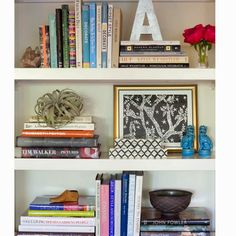 Shelf decor.