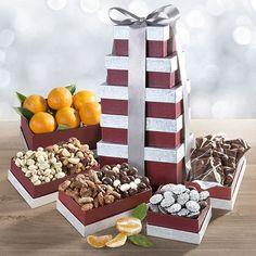Layers of Wonder Fruit, Nuts and Chocolates Tower - CATC0241