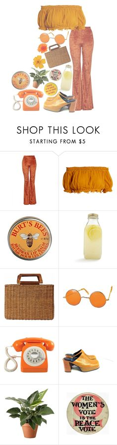 """""""Don't Worry Be Happy"""" by satan-is-sad ❤ liked on Polyvore featuring The Ragged Priest, Apiece Apart, Burt's Bees, Bormioli Rocco, Salvatore Ferragamo and GPO"""
