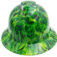 Unique and stylish Quality Hydro Dipped hard hats. Each design offers a bright and vivid image with a clear coat gloss finish over top. Hydro graphic design covers the entire outside of the hard hat and will not fade or easily scratch. Hard Hats, Bad To The Bone, Cover Design, Safety, Unique, Green, Free Shipping, Ebay, Canada