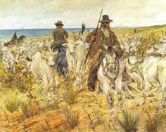 Cowboys of the Maremma Driving the Herds by Giovanni Fattori 1893