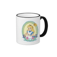 Alice in Wonderland Portrait Disney. Regalos, Gifts. Producto disponible en tienda Zazzle. Tazón, desayuno, té, café. Product available in Zazzle store. Bowl, breakfast, tea, coffee. #taza #mug