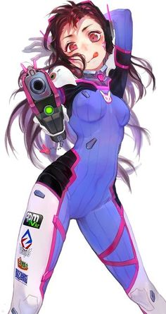 Overwatch, D.Va, by a mi