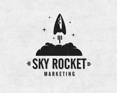 Sky Rocket Marketing Logo Design | More logos http://blog.logoswish.com/category/logo-inspiration-gallery/ #logo #design #inspiration