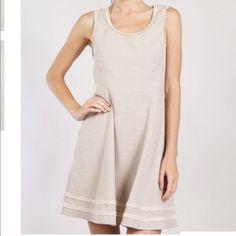 Nwt Taupe Linen Summer Dress