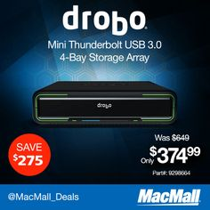 Speed, performance and capacity in one easy-to-use desktop enclosure is what this @Jim Schachterle Sherhart mini 4-bay #thunderbolt storage array is all about. SAVE $275 now!