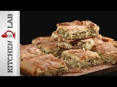 Leek pie by Greek chef Akis Petretzikis. A wonderfully tasty, aromatic pie made with caramelized leeks, onions, herbs and lemon zest in country phyllo dough! Vegetable Recipes, Vegetarian Recipes, Cypriot Food, Leek Pie, Middle East Food, Pbs Food, Avocado Salad Recipes, Cheese Pies, Food Wishes