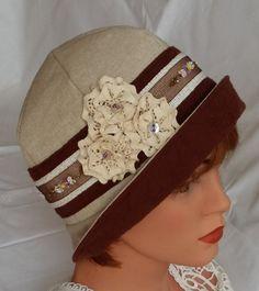 1920s Cloche Flapper Hat Summer Hat 20s Downton by MermaidsHatbox