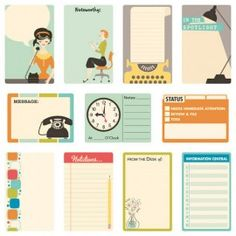 Journal Cards 9 to 5