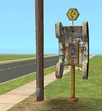 Mod The Sims - Perfectly Apocolyptic Phone -- community phone booth recolor Sims 2 Hair, 2nd City, Sims Cc, Happy Birthday, Community, Phone, Outdoor Decor, Projects, Post Apocalyptic