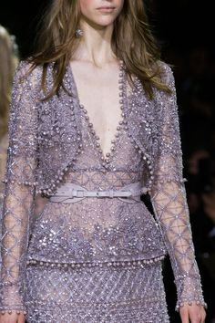 View all the detailed photos of the Elie Saab haute couture spring 2016 showing at Paris fashion week.  Read the article to see the full gallery.