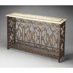 """Found it at Wayfair - Rothley Console Table Overall: 34.25"""" H x 52.25"""" W x 14.5"""" D Overall Product Weight: 123lbs Distressed: Yes"""