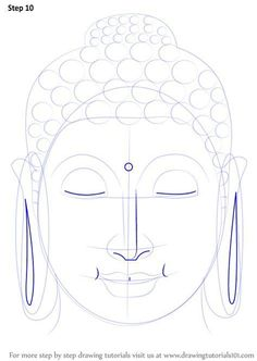 Face Drawing Learn How to Draw Buddha Face (Buddhism) Step by Step : Drawing Tutorials Budha Painting, Zen Painting, Budha Art, Buddha Drawing, Buddha Canvas, Art Tutorials, Drawing Tutorials, Painting Tutorials, Buddha Face