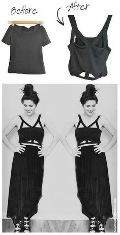 DIY cutout bandeau tutorial. Would never wear that, but the straps tutorial would be great for workout tanks