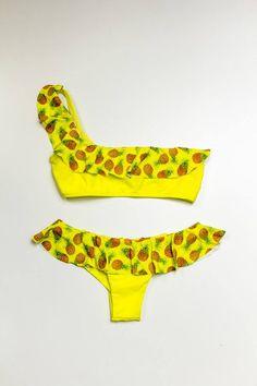 #pineapple #bikini #shoponline #madeinitaly #summer #ss15 #yellow #beachwear #swimwear www.labikineria.com