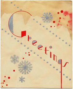 Vintage greetings card, from Flickr. #greetings #vintage #old #card