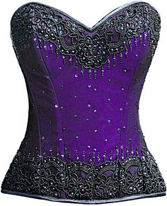 Check out this item on The Violet Vixen Burlesque Glimmer Purple Beaded Corset #thevioletvixen