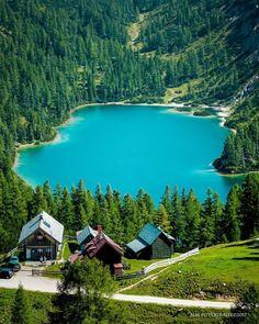 The picturesque lake #Steirersee on the Alm #Tauplitz at 1600m altitude
