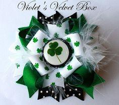 cute bow for my little irish grand girls