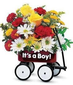 'Baby's First Wagon' , Gifts for Baby Boy, Carithers Florist - Atlanta's Best Florist!  http://www.carithers.com/product.cfm/iteID/1840