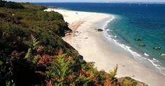 Unique en Europe ! La plage des grands sables de l'île de Groix est convexe