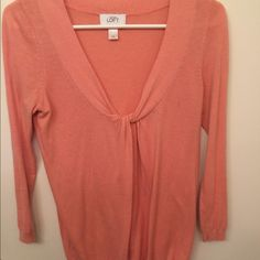 Pink sweater top Cute sweater top hardly ever worn. LOFT Tops Blouses