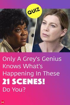 Can you recognize all 21 of these scenes from Grey's Anatomy? Don't speak too soon - only a genius will make the cut! #greys #shondaland #greysLove #greysrandomQuiz #greysFan #meredithgrey #shonda #GreysAnatomy #greysquiz #greysnostalgia #greysAnatomyTrivia #greysscene
