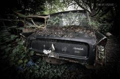 Tucked away in the woods, somewhere in northern england is a rustic time capsules slowly taken back by nature. [cycloneslider id=cars] Northern England, Time Capsule, Woods, Past, Rustic, Vehicles, Nature, Country Primitive, Past Tense