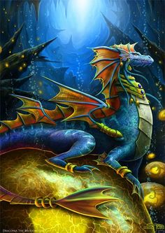Dragon Brood mother and rock Dragon - Dragon Hatchling Egg Baby Babies Cute Funny Humor Fantasy Myth Mythical Mystical Legend Dragons Wings Sword Sorcery Magic Art Fairy Maiden Whimsy Whimsical Drache drago dragon Дракон  drak dragão