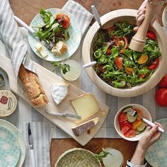 Our favorite no-cook summer dinner: tomato salad and a cheese plate!