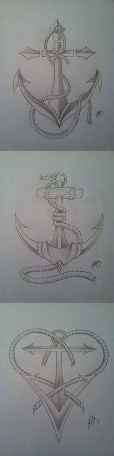 Anchor ideas for tattoos by Chris Allen. Anchor of Hope, Viking Anchor and the Love Anchor.
