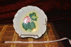 "Okada OK China Hand Painted Decorative Green Red Leaf Shaped Dish Japan 6 7/8"" #OkadaOkChina"