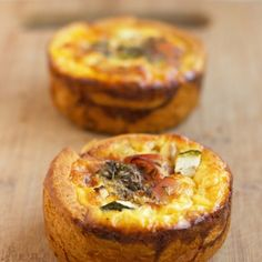Individual Ham & Zucchini Quiches - site also has another 9 appetizer recipes Real Food Recipes, Cooking Recipes, Yummy Food, Cooking Tips, Breakfast Items, Breakfast Recipes, Savory Tart, Appetizer Recipes, Appetizer Party