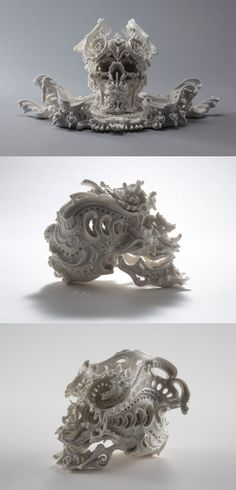 Katsuyo Aoki  Ceramic  1. the first one is a skull, this is super cool.