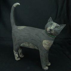 Walking Cat ceramic by Anna Noel - Pyramid Gallery