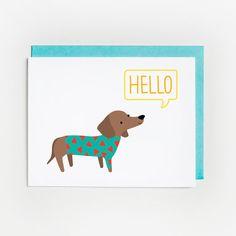 Just Because Card, Hello Dachshund