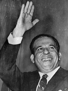 Presidente João Goulart foi deposto em um golpe de Estado em 1964. Cinema Tv, Abraham Lincoln, Brazil, People, Chrome, Contemporary, Constitutional Rights, National Archives, Head Of State