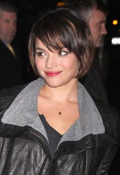 Cute Short Bob Haircut with Bangs - Bob Hairstyles 2014 - Norah Jones Haircut